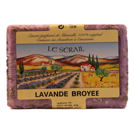 Crushed lavender Marseille soap 250g le Sérail
